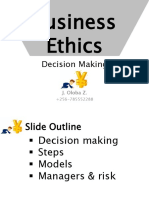 BUS3182BusinessEthics DecisionMaking