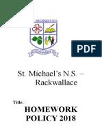 homework policy 2018