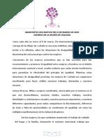 Igualdad | MANIFIESTO CON MOTIVO DEL 8 DE MARZO DE 2019 / CONSEJO DE LA MUJER DE COSLADA