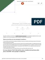Modèle Business Plan Gratuit _ Création _ Reprise d'Entreprise