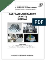 CAD CAM Laboratory Manual