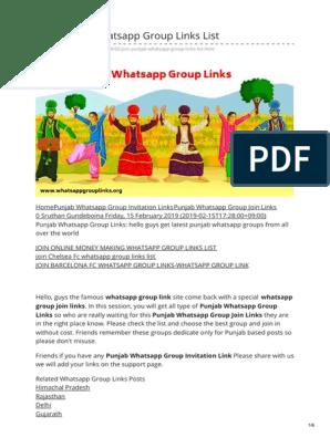Whatsappgrouplinks org-Join Punjab Whatsapp Group Join Links