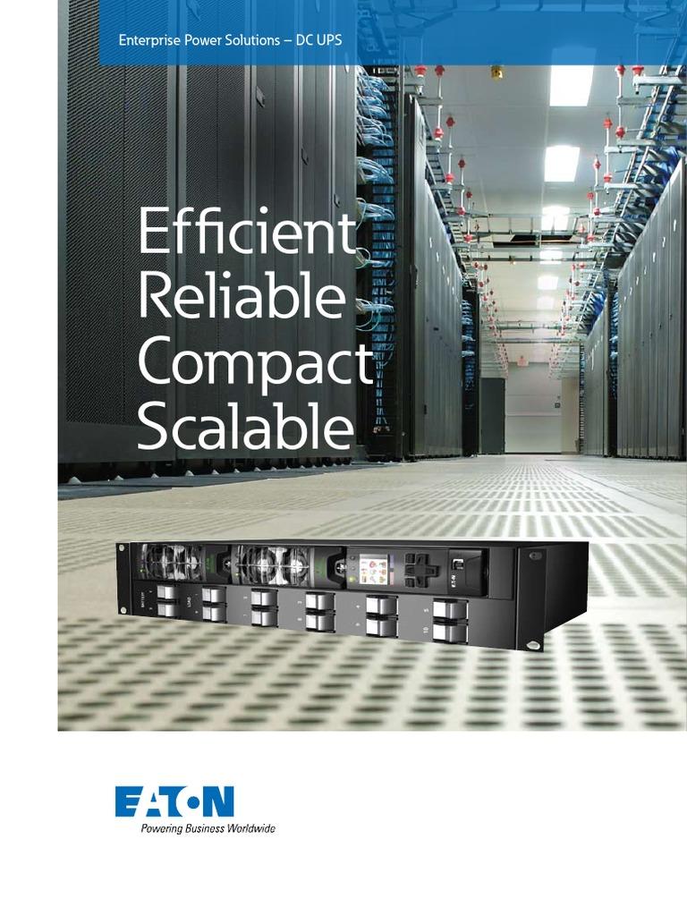 Enterprise DC-UPS Brochure | Direct Current | Electric Power