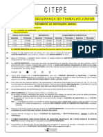 Cesgranrio 2011 Citepe Tecnico Em Seguranca Do Trabalho Junior Prova