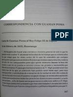 9. Correspondencia Con Guaman Poma - Lee Laura
