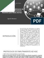 Comparación del Rendimiento de Protocolos de Enrutamiento Reactivos para Redes Ad Hoc