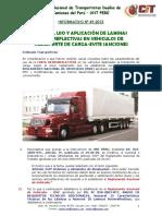Informativo Nº 49 2015 Uso de Cintas Reflectivas Camiones Evite Sancones
