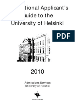 International Applicants Guide- Helsinki