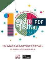 Programa Gastrofestival 2019