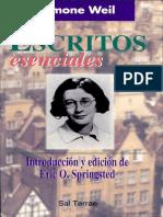 Escritos Esenciales de Simone Weil (Extracto)_Eric O. Springsted (Ed.)