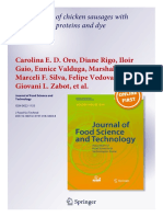 Formulation of Chicken Sausages With Broiler Blood Proteins