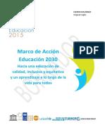 Marco de Accin Educacin 2030 Version Espanol