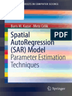 Spatial AutoRegression SAR Model Parameter Estimation Techniques