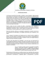Comunicado Público Nº 01 Mecanismo Nacional de Prevenção e Combate à Tortura