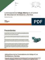 Controladores de Voltaje Alterno en el Control de Velocidad de Ventiladores y Bombas