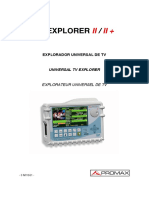 Manual del Medidor de campo - Promax - TV explorer II-II+