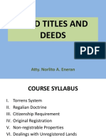Land Titles and Deeds