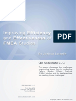 Improving Efficiency and Effectiveness of FEMA Studies