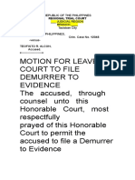 Motion for Leave of Court to File Demurrer to Evidence_2