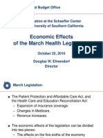 Economic Effects of Obamacare October 22 2010