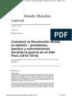Marisa Davio Construir La Opinión Desde La Revolución