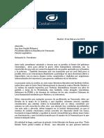 Carta al Presidente de Venezuela, Juan Guaidó
