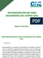 Presentacion Implementacion BSC Conpes 3675