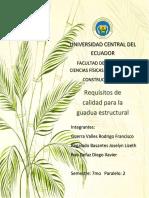 Requisitos de calidad para la guadua estructural (Ecuador)