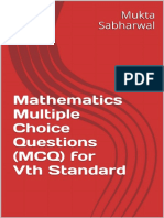 Mathematics Multiple Choice Questions (MCQ) for Vth Standard_nodrm