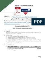 Producto académico N°3 - ÁLGEBRA MATRICIAL Y GEOMETRÍA ANALÍTICA