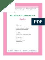 Class Fiveenglish Islam