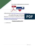 Producto académico N°3 - HISTORIA Y SISTEMAS CONTEMPORÁNEOS DE LA PSICOLOGÍA