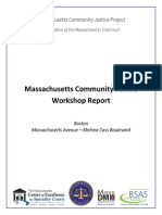 Massachusetts Community Justice Workshop Report 2017