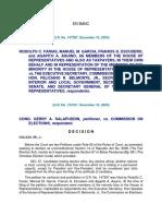 Farinas vs. Executive Secretary, COMELEC 2003