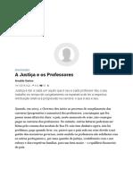 A Justiça e Os Professores – Observador