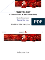 BHUSA09 Kortchinsky Cloudburst SLIDES