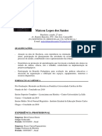 Currículo Maicon Lopes Dos Santos