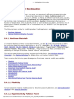 8.4.Hyperelastic Modeling Material Nonlinearities