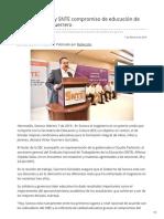 07-02-2019 - Comparten SEC y SNTE compromiso de educación de calidad Víctor Guerrero - Canalsonora.com