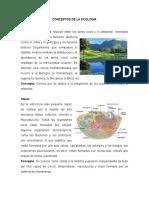 Conceptos de La Ecologia