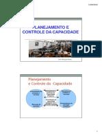Aula PCP II - 03 - Planejamento Capacidade