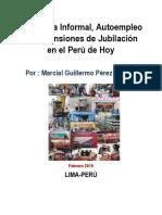 Economía Informal Autoempleo y las Pensiones de Jubilación en el Perú de Hoy