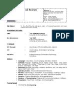 CV Muhammad Naveed Soomro