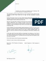 Carta a Tajani de Torra y Puigdemont