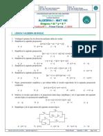 Practica 1er Parcial Algebra I MAT 100