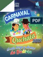 Agenda del Carnaval 2019 en Cochabamba
