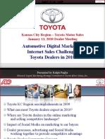 Automotive Digital Marketing Analysis for Toyota Kansas City Region Dealer Summit Meeting