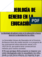 La Ideología de Genero en La Educación