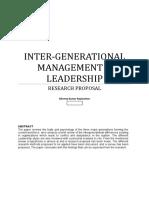 Inter-Generational Management & Leadership