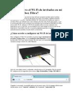 Cómo Activo El Wi-Fi de Invitados en Mi Router Livebox Fibra